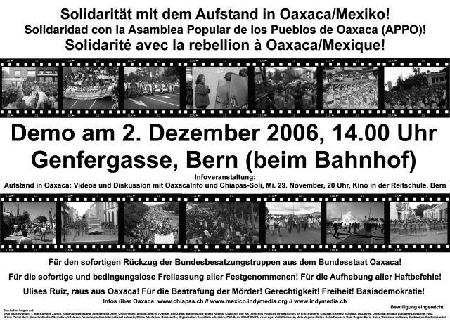 Solidarität mit dem Aufstand in Oaxaca / Mexiko