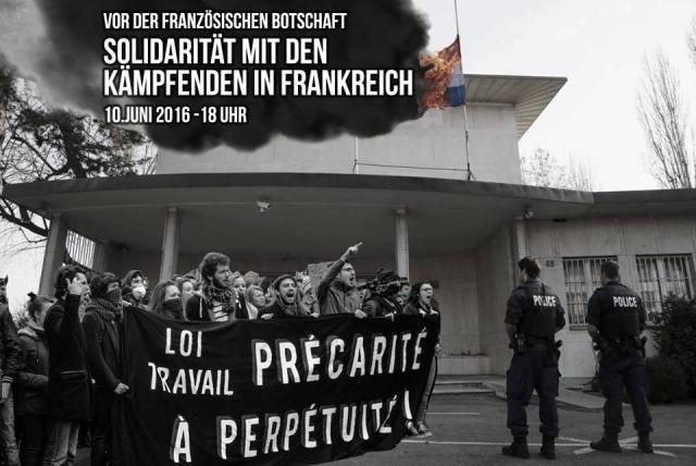 Solidemo Streikbewegung/Nuit Debut Frankreich