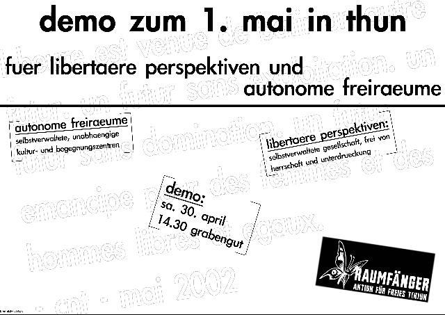 Freiraum-Block 1. Mai Thun
