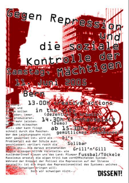Aktionstag gegen soziale Kontrolle & Repression