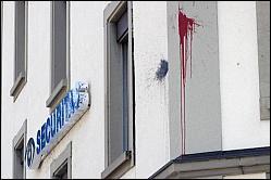 Farbanschlag Securitas Hauptgebäude
