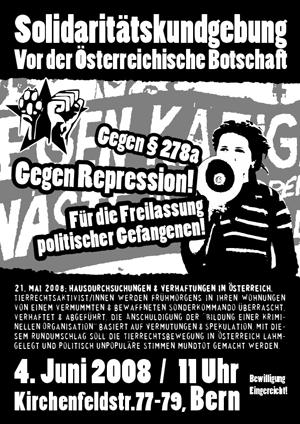 Soli-Kundgebung vor österreichischer Botschaft