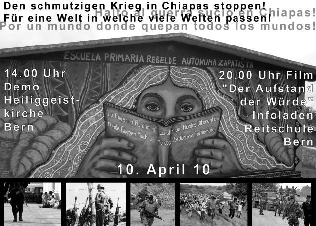 Demo Krieg in Chiapas Stoppen