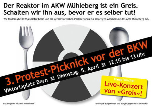 3. Protest-Picknick AKW Mühleberg