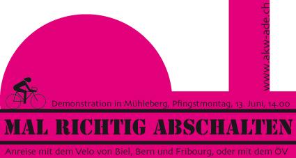 Demo Mal richtig abschalten! AKW Mühleberg