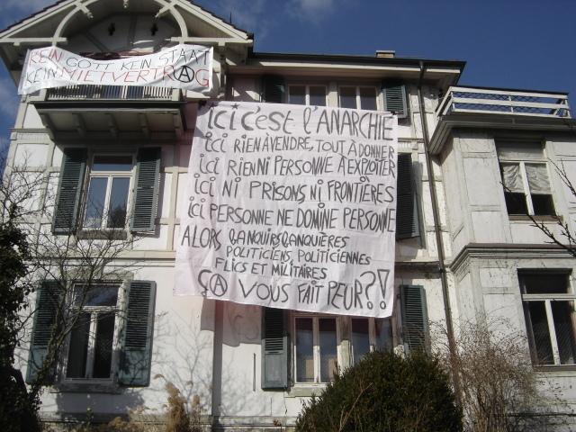 Hausbesetzung & Räumung Finkenhubelweg