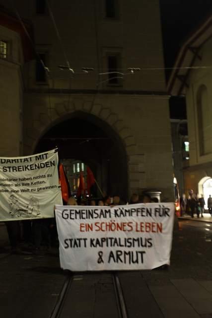 Demo  europaweiten Generalstreiktag