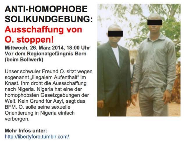 Anti-homophobe Solikundgebung (Free O.)