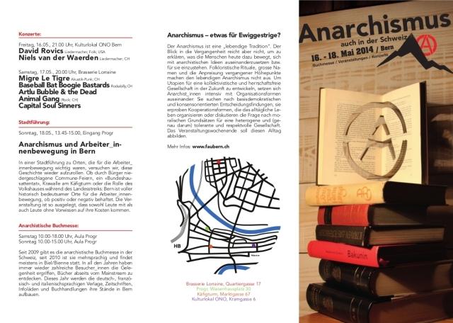 """Veranstaltungswochenende """"Anarchismus – auch in der Schweiz"""""""
