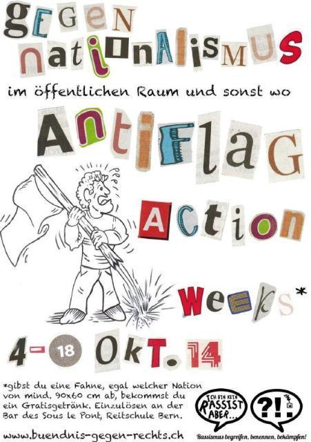Anti-Flag-Action (Ich bin ja kein Rassist…)
