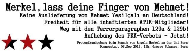 Protestkundgebung Merkel-Besuch & Freiheit für Yesilcali