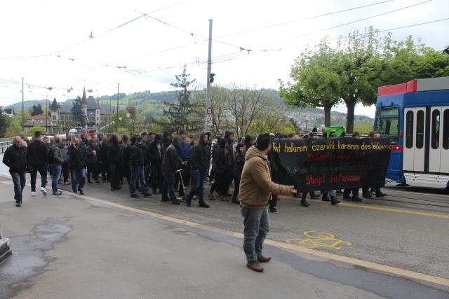 Demo türkische Faschisten entgegetreten