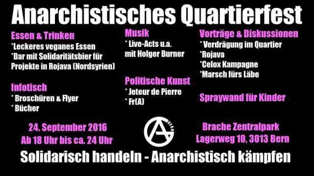 Anarchistisches Quartierfest Lorraine