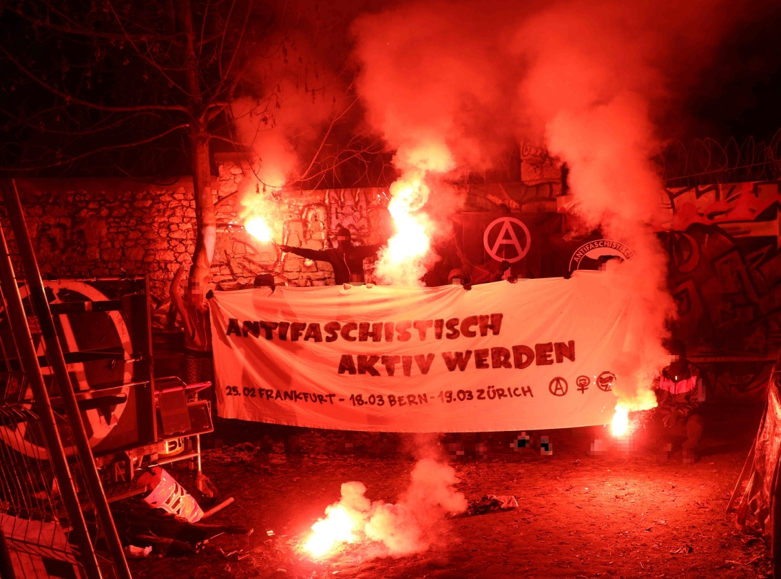 Transpiaktion überregionale Antifa-Mobilisierungen