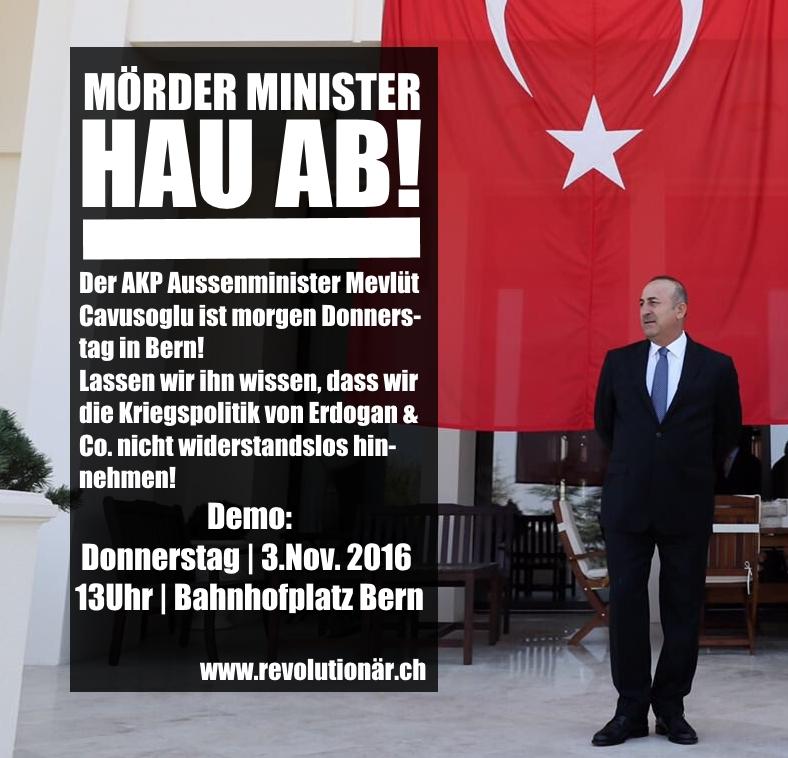 Demonstration gegen türkischen Staatsbesuch
