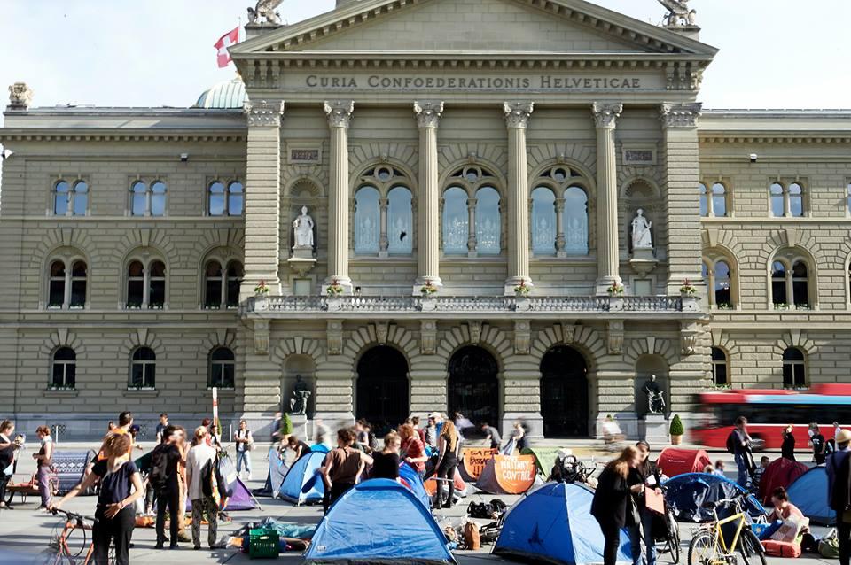 Protestcamp Bundesplatz & Spontandemo
