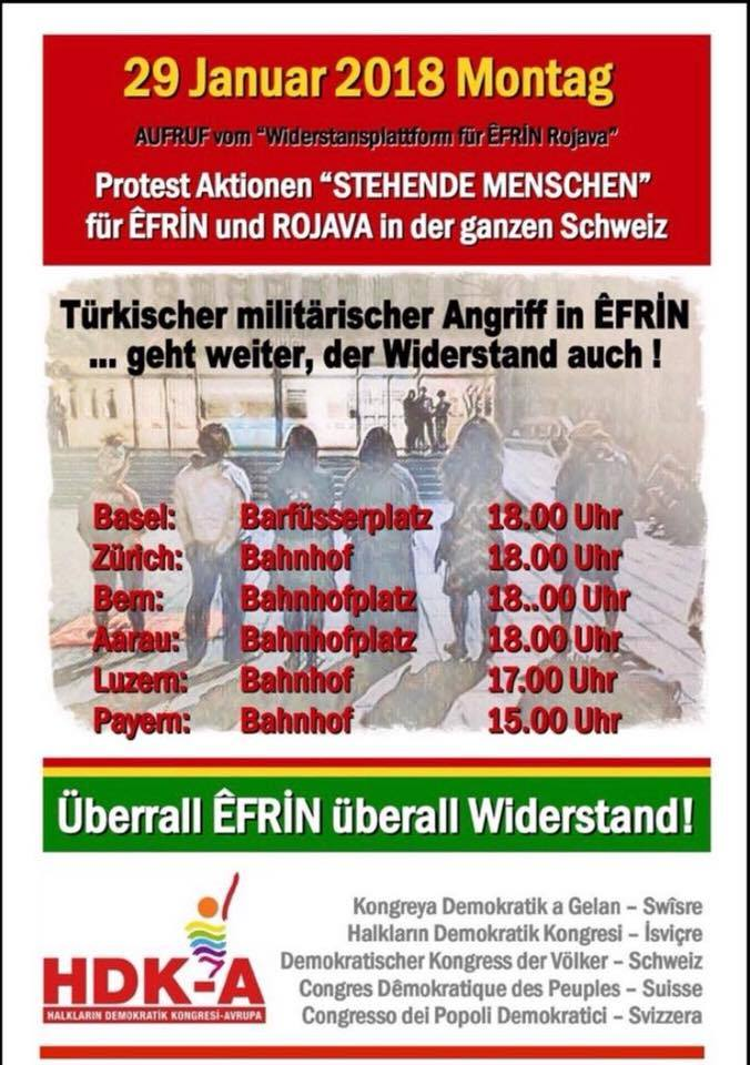 Protestaktion für Afrin