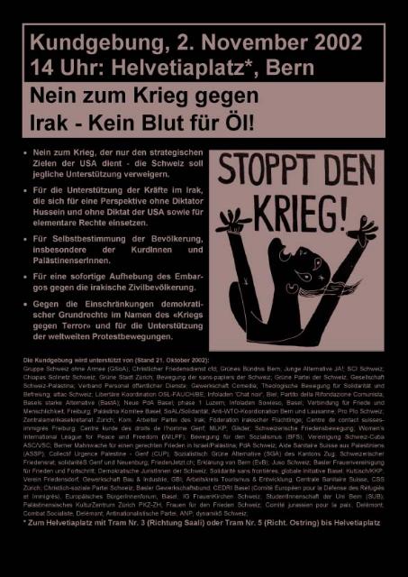 Demo Nein zum Krieg gegen Irak