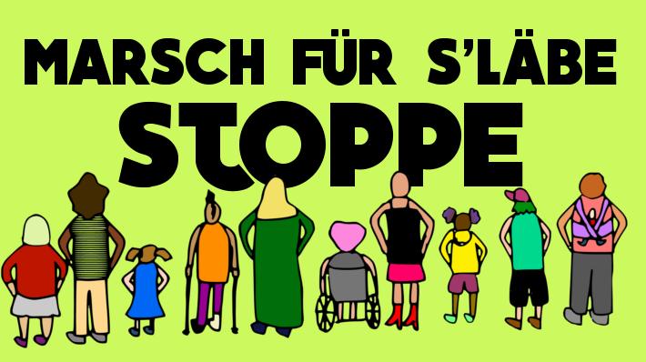Gegenprotest Marsch fürs Läbe