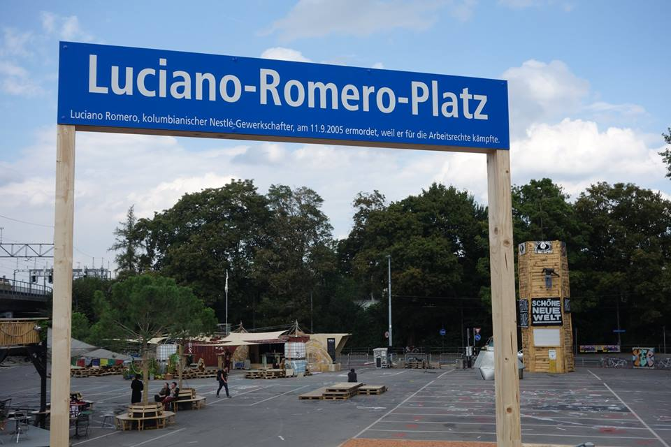 Einweihung Luciano-Romero-Platz