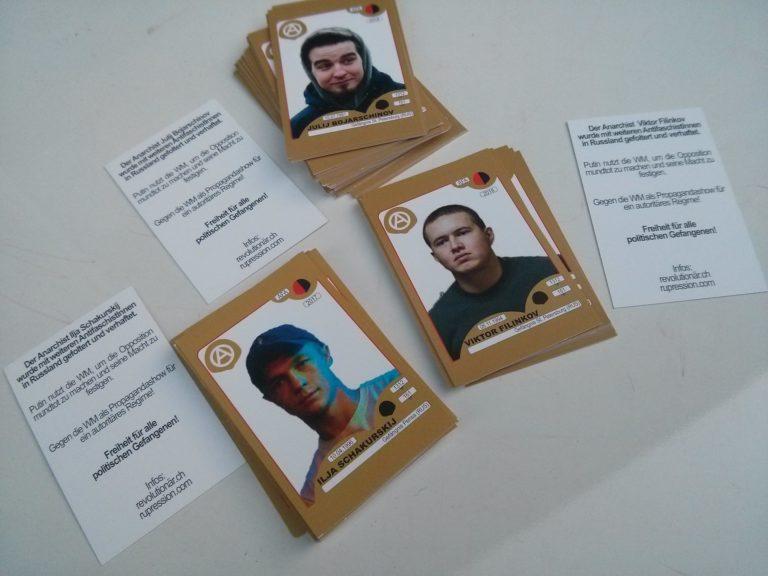 Paninibilder & Transpi Kampagne russische Anarchist*innen