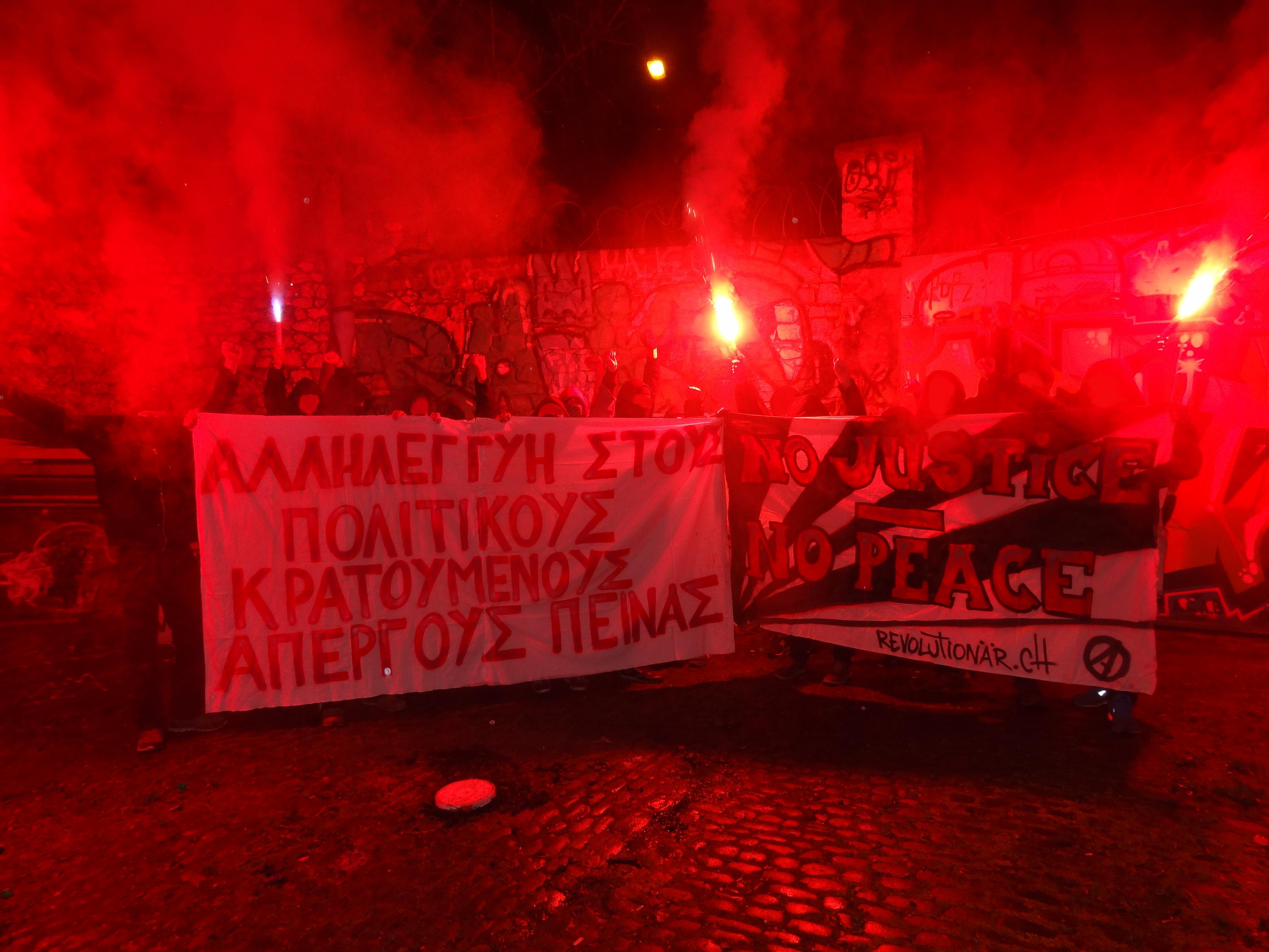 Transpiaktion Hungerstreik Griechenland 2