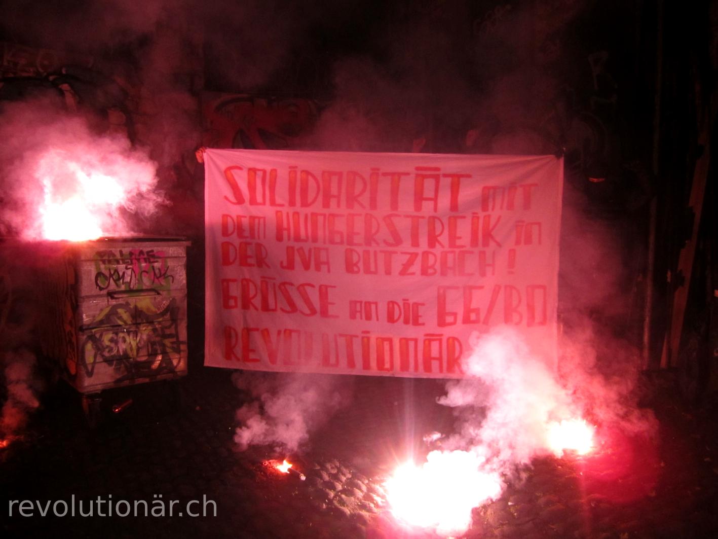 Transpiaktion Hungerstreik JVA Butzbach