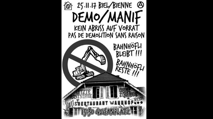 Demo Bahnhöfli Bleibt Biel