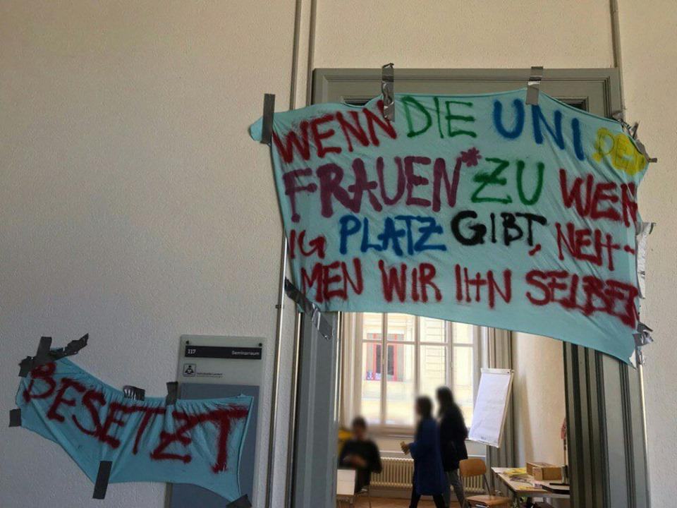 Besetzung Uni Bern (Frauen*streik)