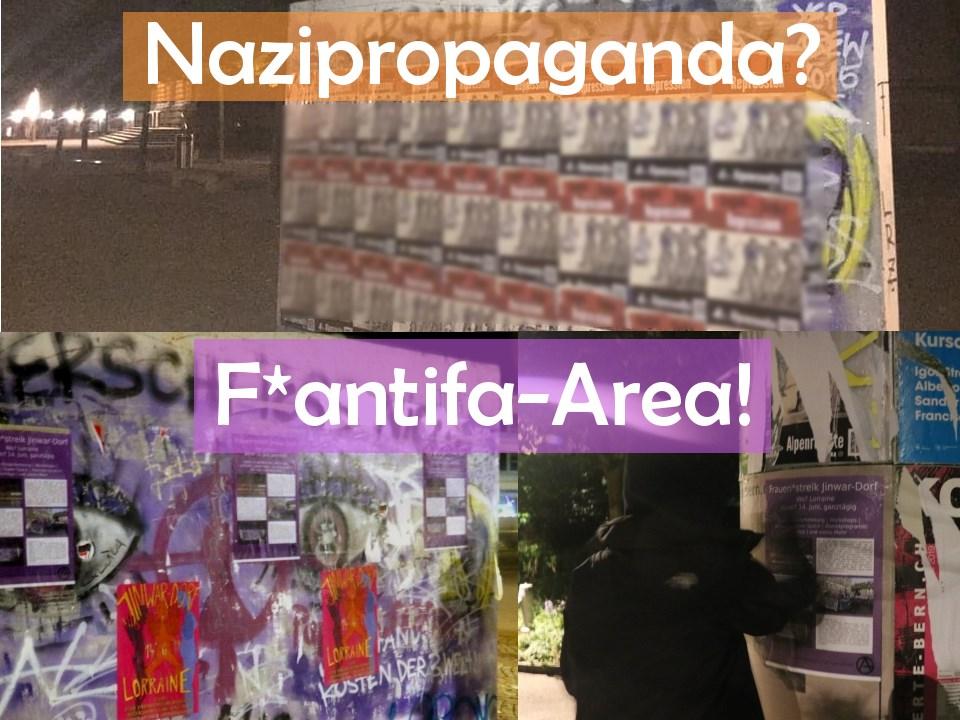 Rechte Propaganda Uni Bern (Frauen*streik)