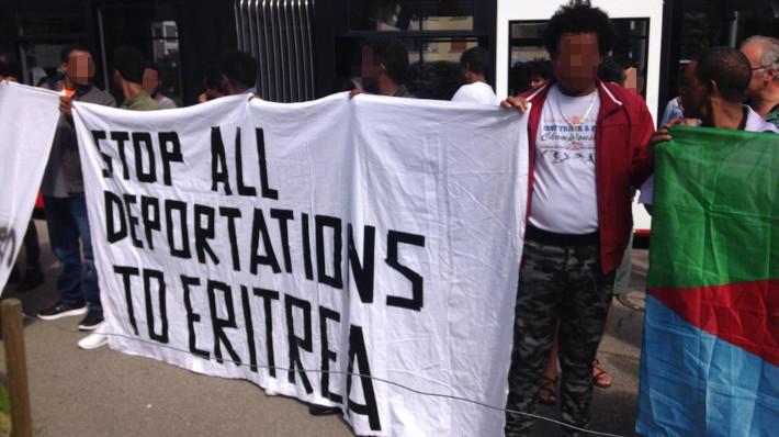 Demo Anerkennung eritreische politische Flüchtlinge