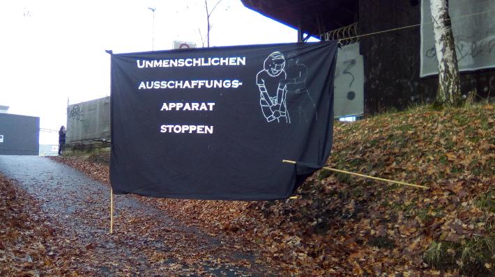 Blockade Ausschaffungsbahnhof