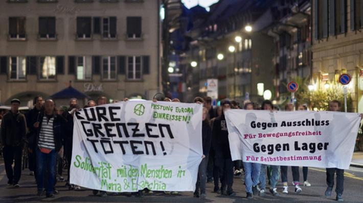 Spontankundgebung mörderische Flüchtlingspolitik