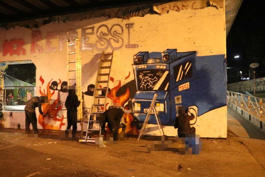 Graffiti gegen Repression