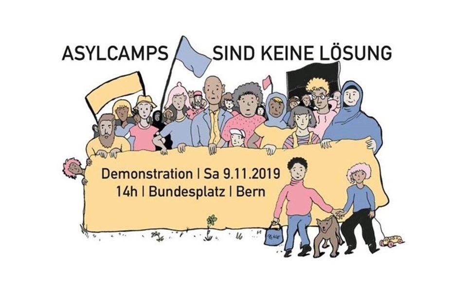 Demo Asylcamps sind keine Lösung