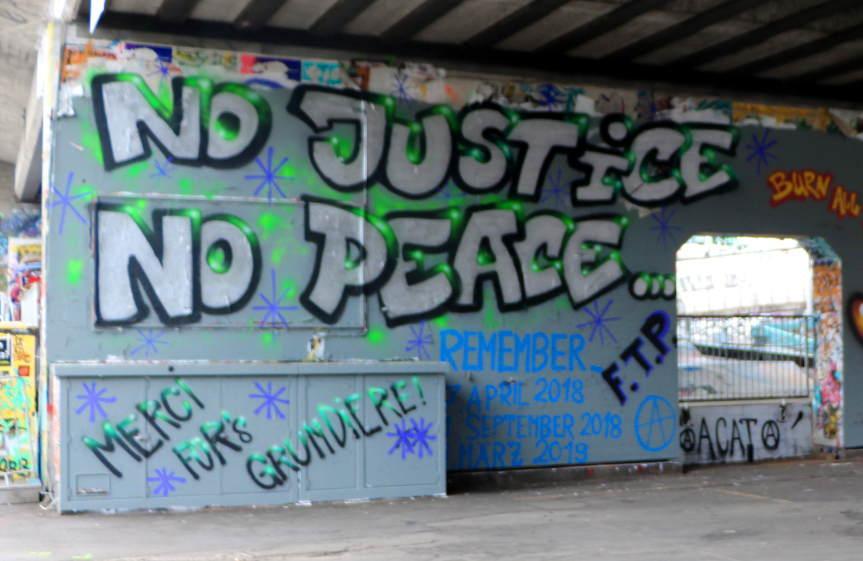 Graffiti Antwort auf staatliche Zensur & Repression