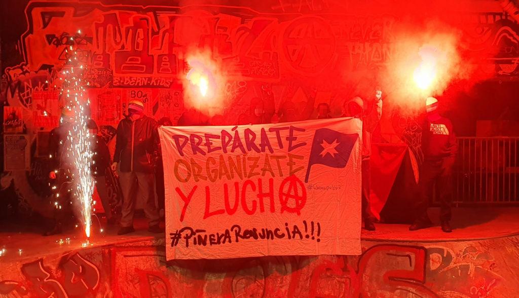 Transpiaktion Solidarität kämpfende Bevölkerung Chile