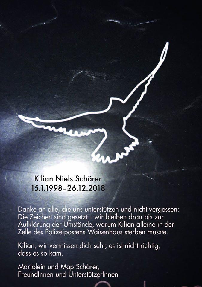Mahnwache 1. Jahrestag Kilu