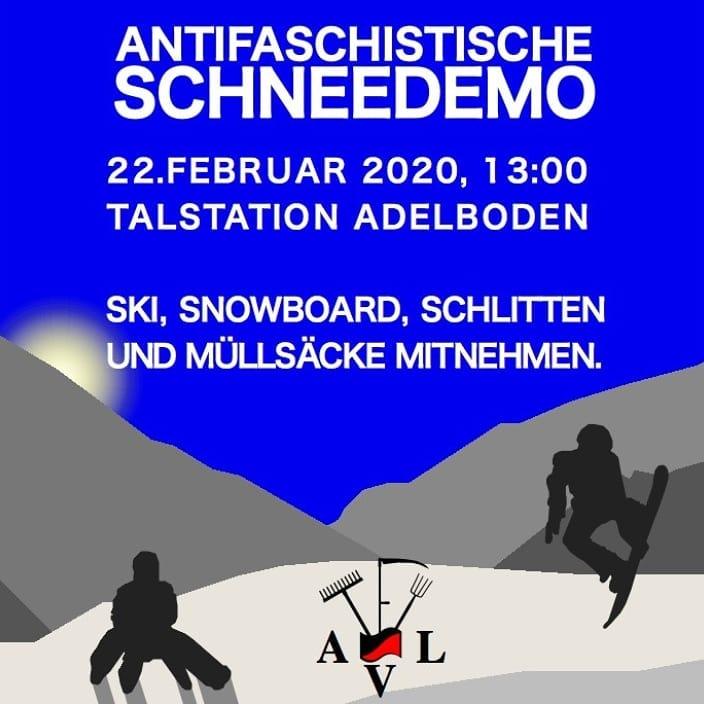 Antifaschistische Schneedemo Adelboden (abgesagt)