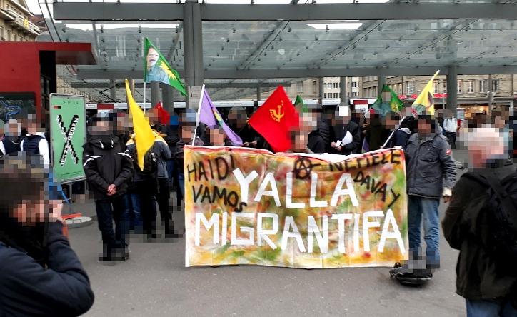 Demonstration Gemeinsam gegen Faschismus