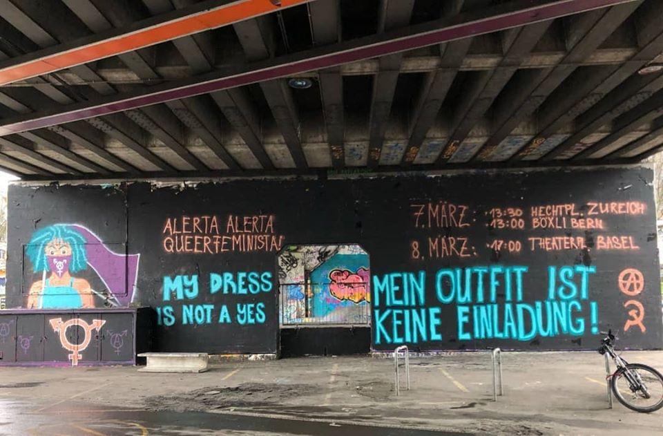 Graffitiaktion alerta alerta Queerfeminista