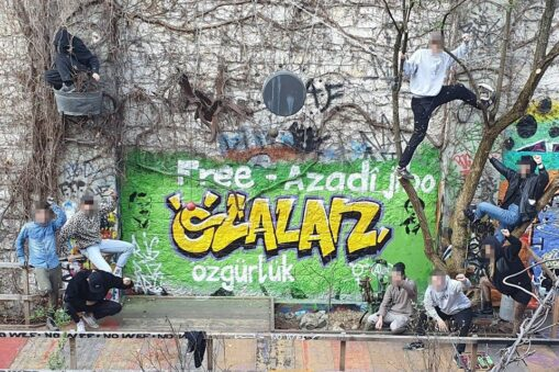 Graffitiaktion Geburtstag Öcalan