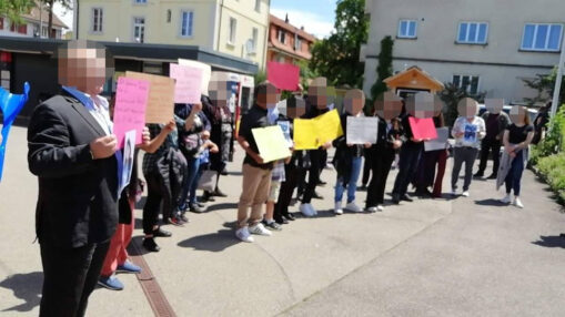 Demonstration gegen Ausschaffung Areuzu Eliasi