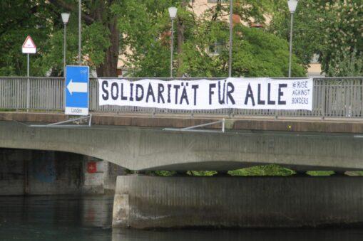 Transpiaktion Solidarität für Alle