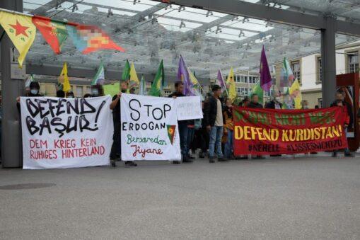 Demonstration Operation Adlerklaue Türkei
