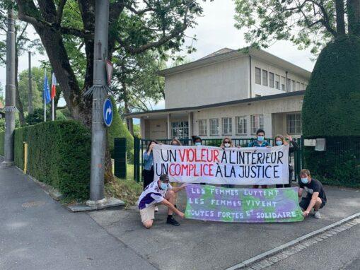 Transpiaktion Solidarität Feministinnen Frankreich
