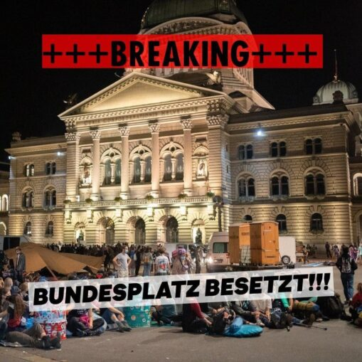 Besetzung Bundesplatz (Rise up for Change)