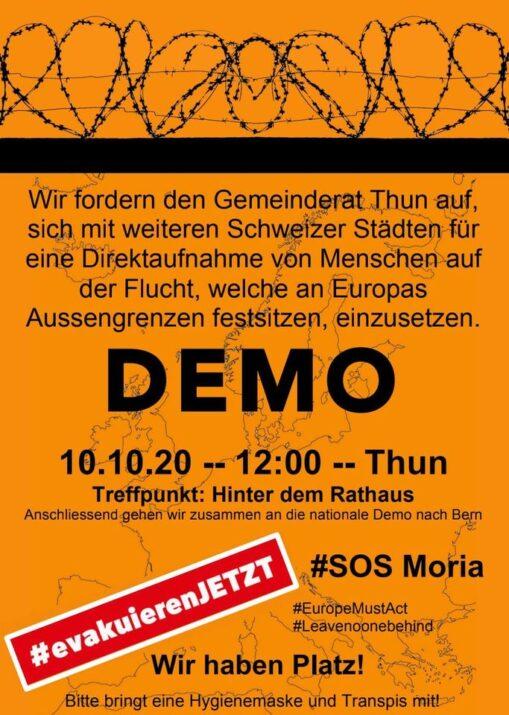 Demo Direktaufnahme Menschen auf der Flucht Thun