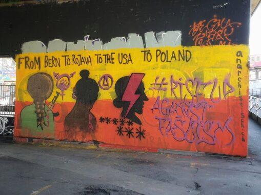 Graffiti #riseupagainstfascism