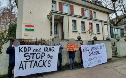 Kundgebung Sengal Proteste Südkurdistan
